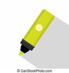 Highlighter icon, flat style