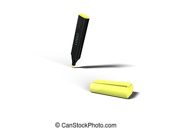 Highlighter on white background