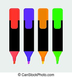 highlighter pen isolated icon vector illustration