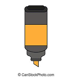 highlighter pen supply isolated icon