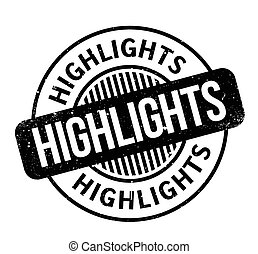 Highlights rubber stamp. Grunge design with dust scratches. Effects can be easily removed for a clean, crisp look. Color is easily changed.