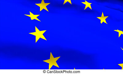 Highly Detailed 3d render of an EU Flag