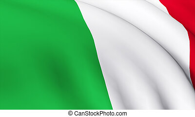 Highly Detailed 3d Render of the Italian Flag 1
