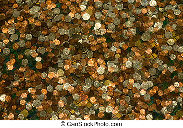 background of coins