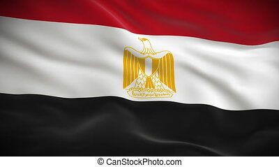Highly detailed Egyptian flag