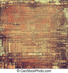 Highly detailed grunge texture or background. With different color patterns: yellow (beige); brown; red (orange); gray