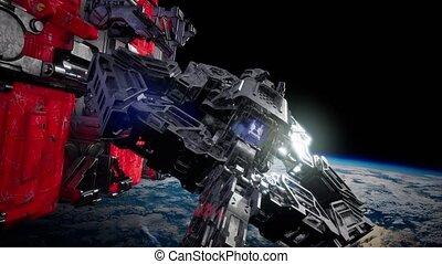 Highly Detailed Huge Spaceship - highly detailed huge ...