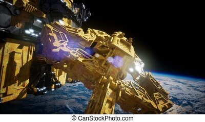 Highly Detailed Huge Spaceship - highly detailed huge...