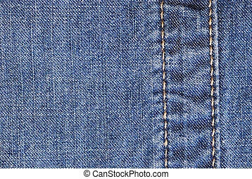 Highly detailed jeans texture with vertical seam. Can be used as a background.