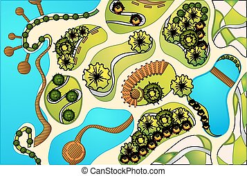 landscape design plan - Highly detailed landscape design ...