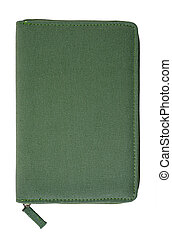 Highly detailed notepad made of olive cotton