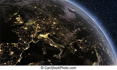 Highly detailed Planet earth Europe