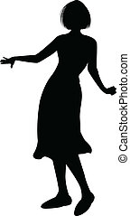 Highly detailed Silhouette of Dance