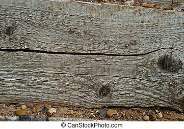 wooden surface with stones - Highly detailed texture of a ...