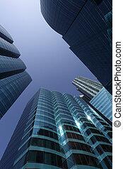 highrise, 建物, 中に, ∥, 財政 地区