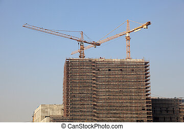 Highrise building construction in Doha, Qatar