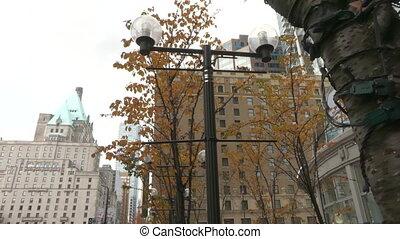 Highrise buildings autumn Vancouver