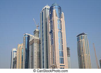 Highrise buildings in Dubai, United Arab Emirates