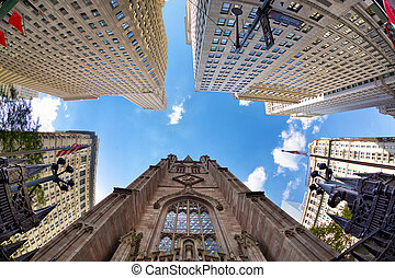 Highrise buildings in New York