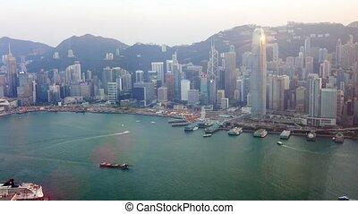 Highrise Buildings of Hong Kong's Distinctive Cityscape....