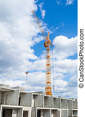 Highrise cranes and multistorey housing