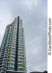 highrise, edifício moderno, em, bangkok, thailand.