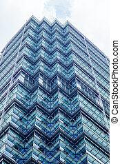 highrise, in, commercieel, centrum