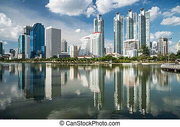 Highrise modern building in Bangkok, Thailand.