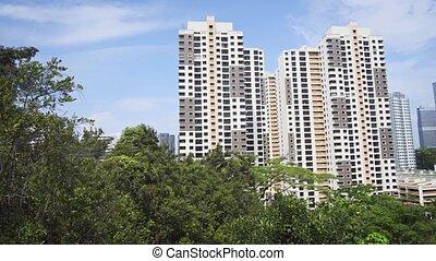 Highrise Residential Buildings near Telok Blangah Hill Park...