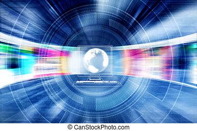 Highspeed Internet Concept