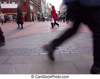 highstreet shopping - shoppers in birmingham city centre