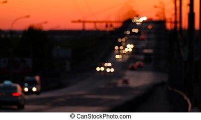 Hight traffic on freeway