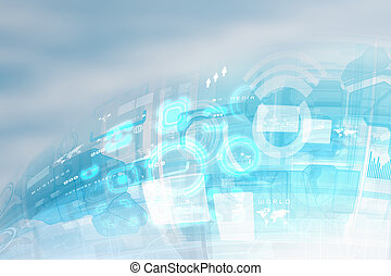 Hightech background - Image of blue hightech background....