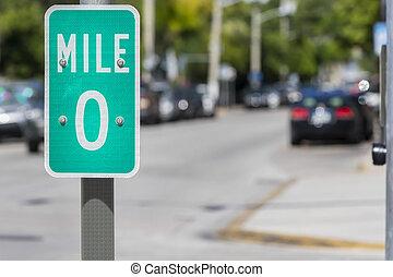 Highway 1 In Key West, Florida