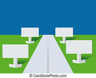 Highway and paper - Highway and publicity boards from a...
