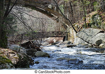 Highway and walk bridges
