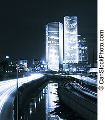 Highway at Night - Freeway at night