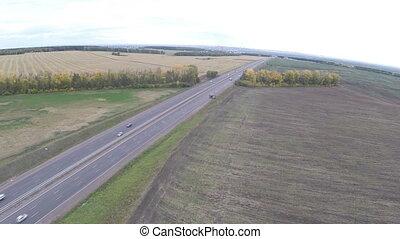 highway., autoroute, ufa, moscou, above., (e, vue, m7, -, 22...