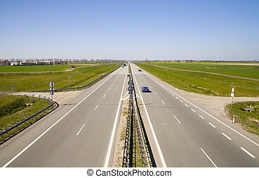 highway Berlin - Warsaw - the part near Poznan (Poland)
