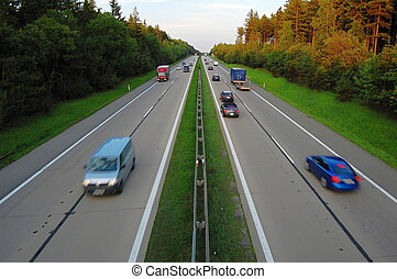 Highway - Cars on highway D1 in the Czech Republic