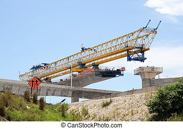 Highway construction - New highway construction site and...