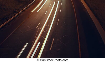 Highway Corner Timelapse. Detail. - Timelapse of Don Valley...