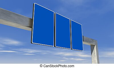 highway direction sign