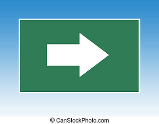 Highway directional sign - Directional arrow on highway or...