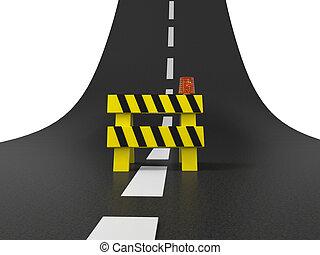highway - A roadblocks on the highway/ road/ stop