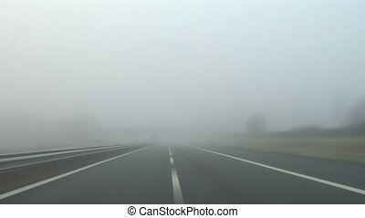 Highway fog 02 - Driving in the fog