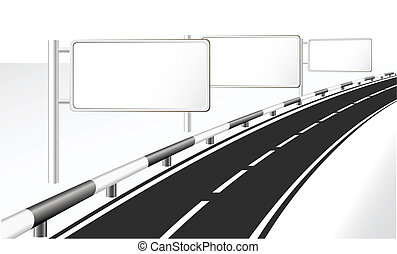 Highway and banner ads.