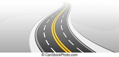 highway., illustration., ベクトル