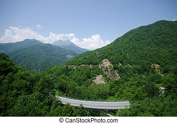 Highway in the hills