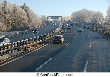 Highway in the winter